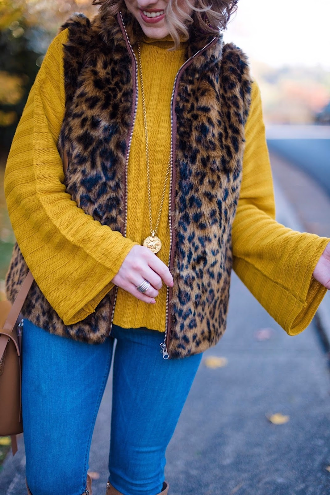 J.Crew Leopard Faux Fur Vest - Something Delightful Blog