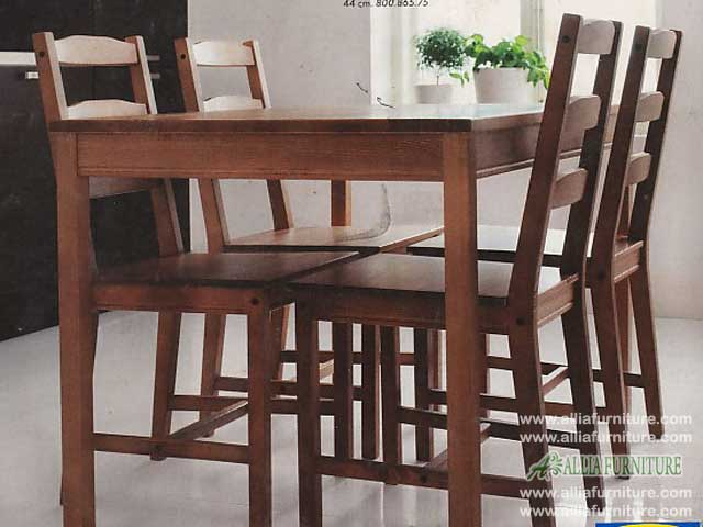 meja kursi makan set kayu jati ketupat