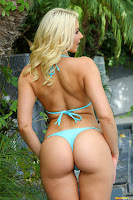 Bikini Riot Anikka Albrite Blue Brazilian Micro Bikini Complete Full Size Image Set