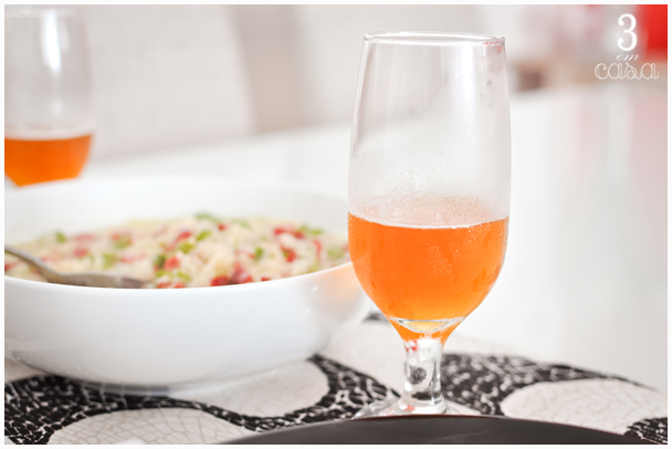 risoto aspargo e copa almoço