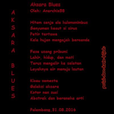 puisi aksara blues