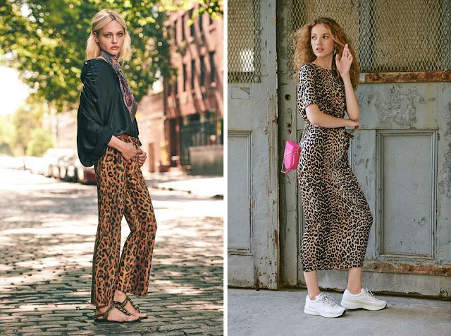 Леопардовые брюки и платье в стиле casual