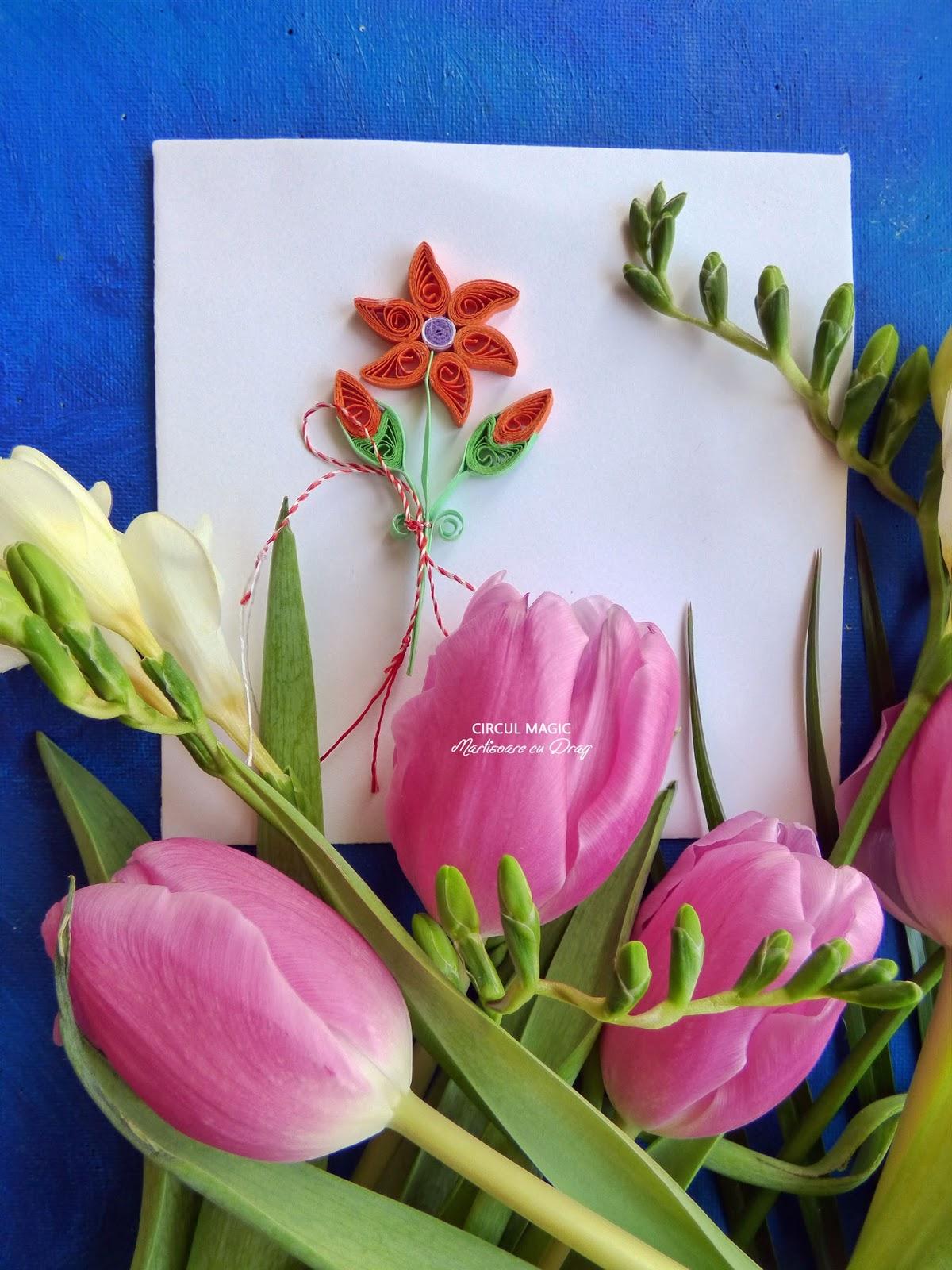 Martisoare Quilling 2017 Flori de Gradina Handmade Circul Magic