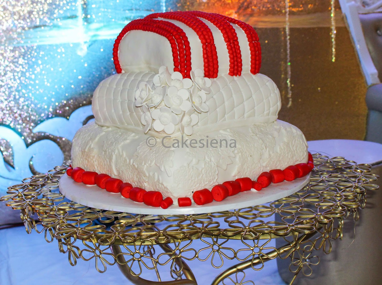 pillow traditional wedding cakes cake factory corals and pillows traditional wedding cake 18513