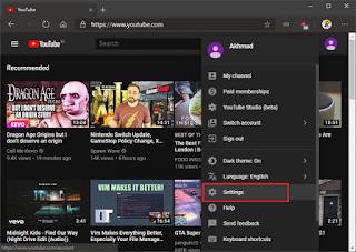 Cara Mengaktifkan Notifikasi Desktop di Youtube