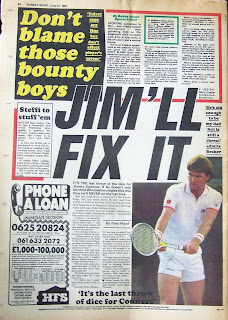 Back page of an old Sunday Sport newspaper from 21st June 1987