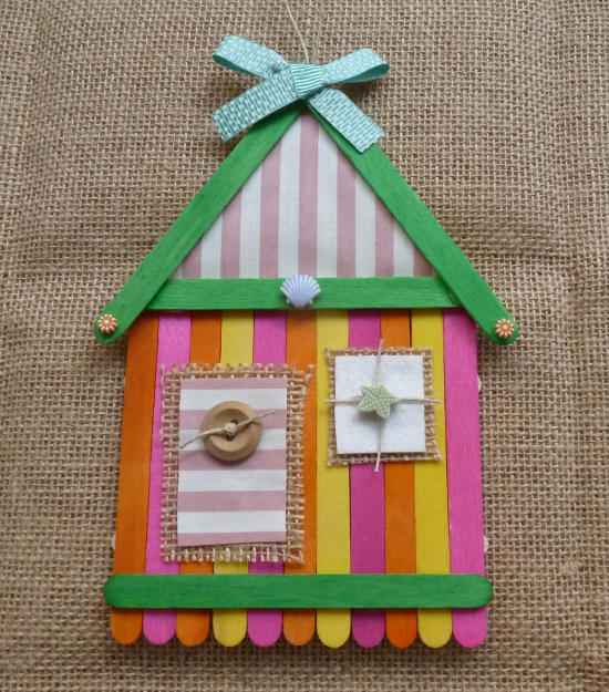 bright green orange pink yellow summer beach house hanging wall craft