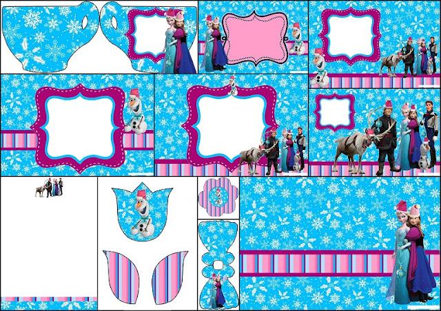 Frozen de Navidad: Invitaciones para Imprimir Gratis.