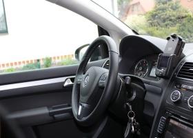 Keys left in the car.