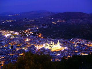 City of Jaen from cross on Santa Catalina Hill