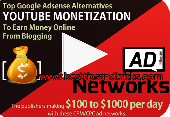 Top 6 Best Google Adsense Alternatives For Youtube Video Mobitizaiton