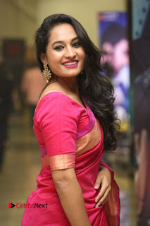 Actress Pooja Ramachandran Pictures in Red Silk Saree at Siddhartha Audio Release  0071