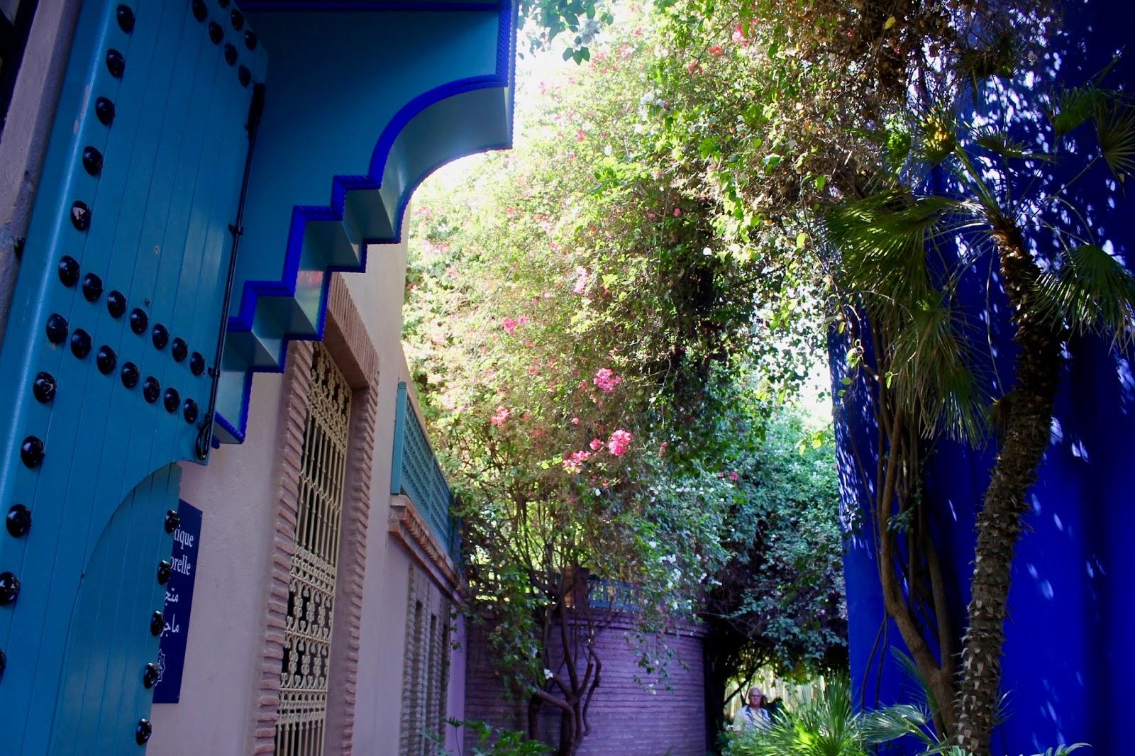 Majorelle Garden Florals and Blue Interior