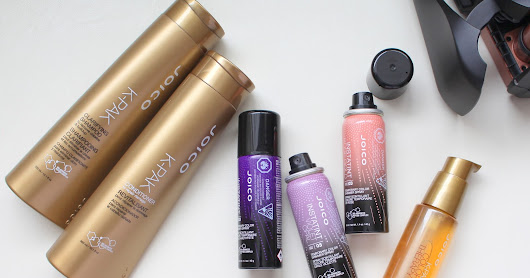 JOICO K-PAK Clarifying Shampoo, Conditioner and Restorative Styling Oil + InstaTint in Violet Opal, Rose Gold and Amethyst - Review and Swatches
