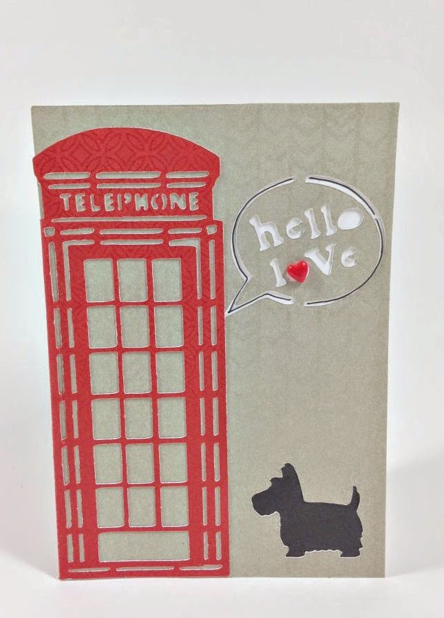 Cricut Artfully Sent Cricut cartridge British Themed card