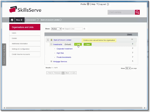 Screen grab of where to access support videos from the Unicorn LMS