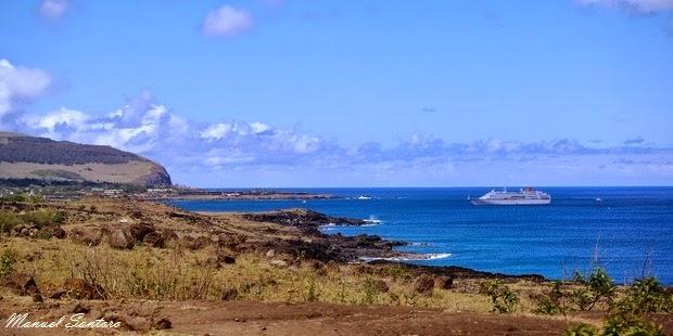 Isola di Pasqua, veduta dal percorso costiero