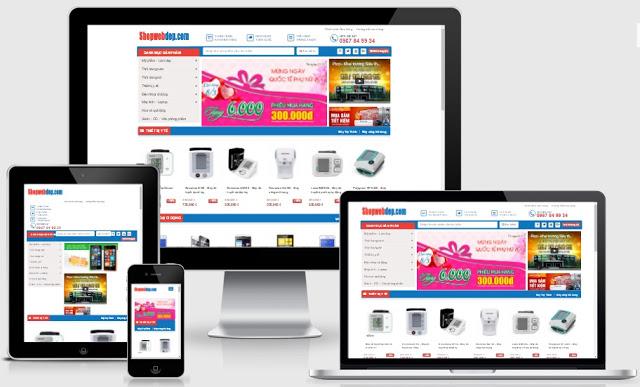 Templates blogspot bán hàng thiết bị y tế