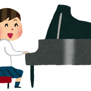 合唱のイラスト「ピアノの伴奏」