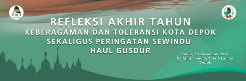 "Peringatan Sewindu Haol KH Abdurrahman Wahid, Gusdurian Depok gelar diskusi ""Refleksi Akhir Tahun Keberagaman dan Toleransi di Kota Depok"""