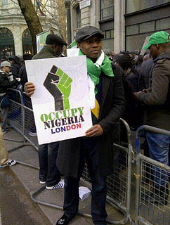 Video From #OccupyNigeria Protest In London 1