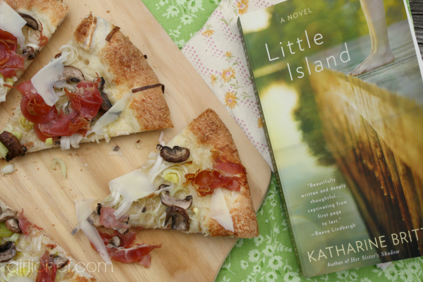 Fairy-ring Mushroom, Prosciutto, and Leek Pizza inspired by Little Island
