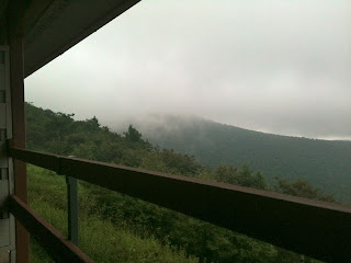 View of the Mountain Fog from our room