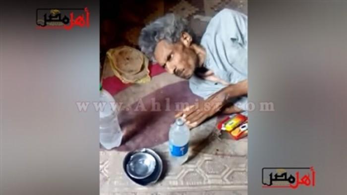 صورة الأخ المحبوس 9 سنوات بغرفة مواشي في أسيوط بسبب الميراث