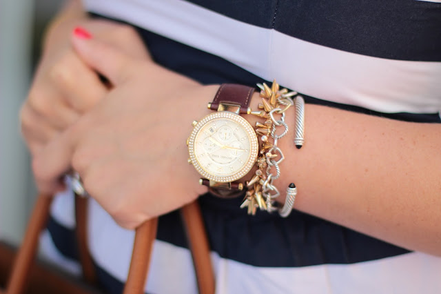 michael kors watch, leather brown watch, michael kors brown watch