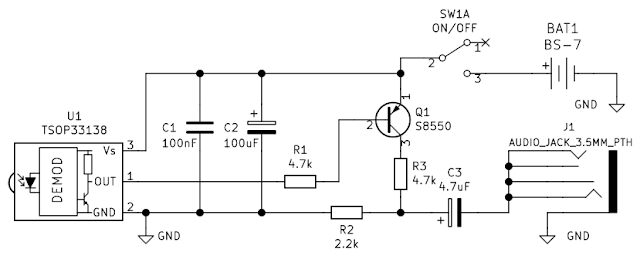 Schematic of soundcard infrared receiver