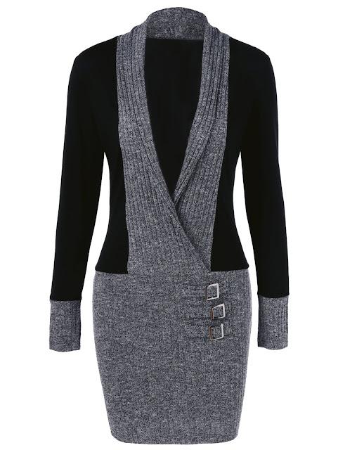 sweater preto e cinza