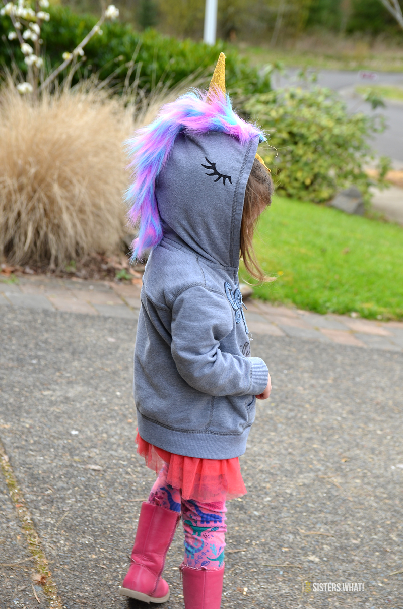 homemade unicorn sweatshirt dress up hoodie
