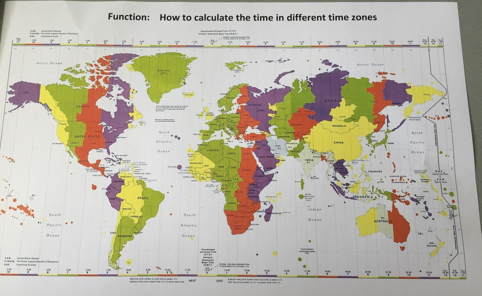 Canadian Time Zones Worksheet