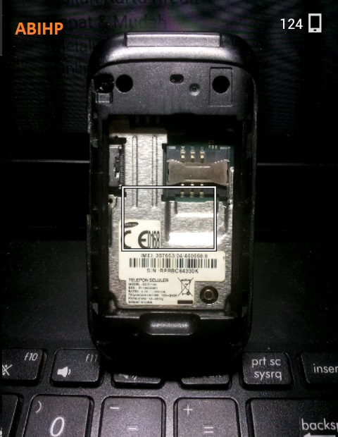 Setelah itu pasang lagi Samsung e1195.
