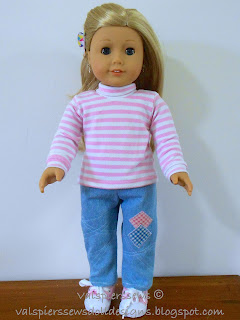 Clasic skivvy using doll clothes pattern 1801
