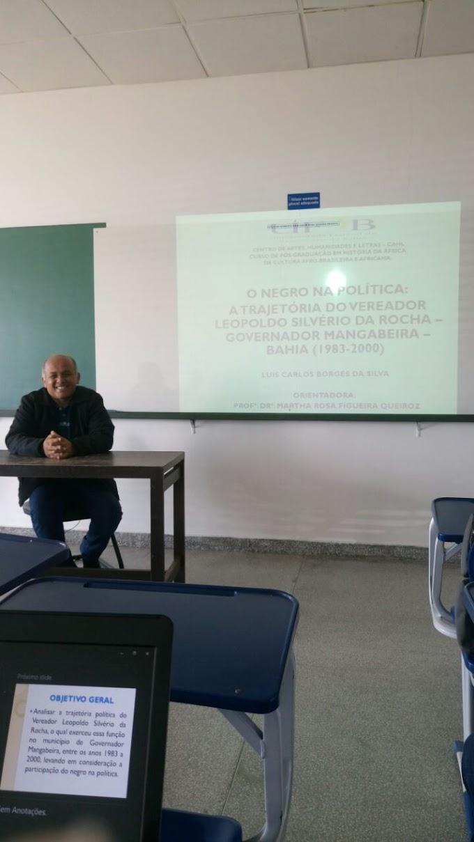 Professor Borges, apresenta artigo sobre a trajetória política do Vereador Leopoldo no Simpósio Nacional de História em Brasília