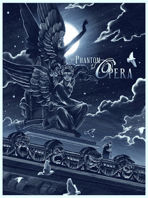 The Phantom of the Opera Variant Screen Print by Nicolas Delort & Dark Hall Mansion