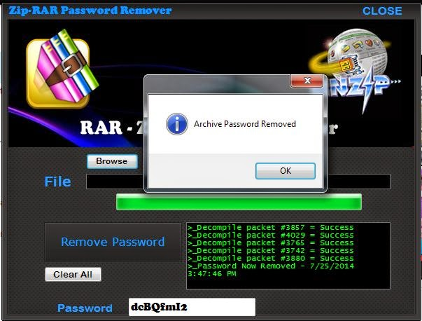 RAR Password Unlocker 2014 Update