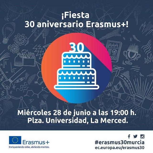 El programa Erasmus está celebrando su 30 Aniversario en la Universidad de Murcia.