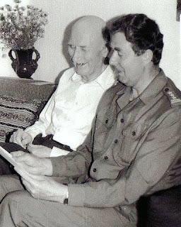 Autor podczas rozmowy z Antonim Rymszą, Maj 1992r.