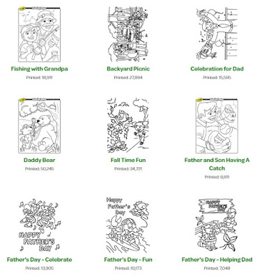 father's day printable coloring worksheets