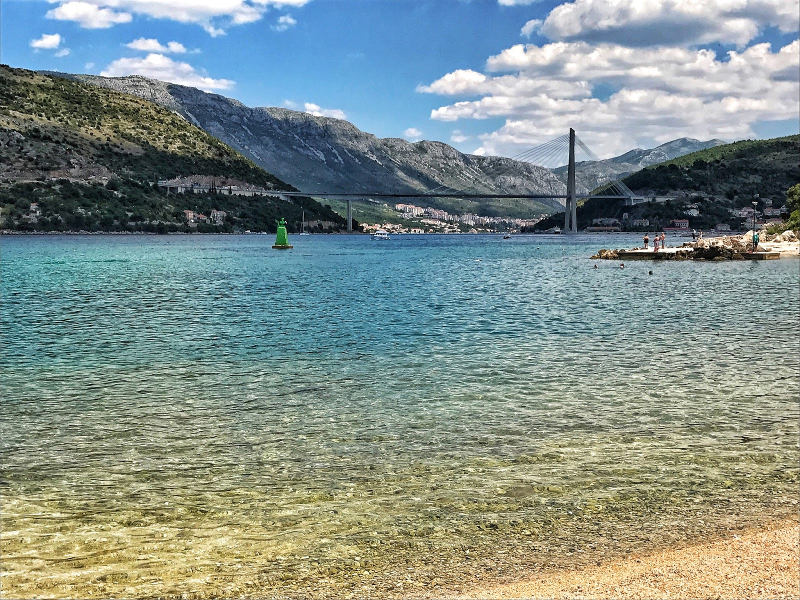 beautiful beach and sea views at Copacabana beach Dubrovnik Croatia
