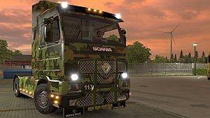 Army skin for Scania 143m truck