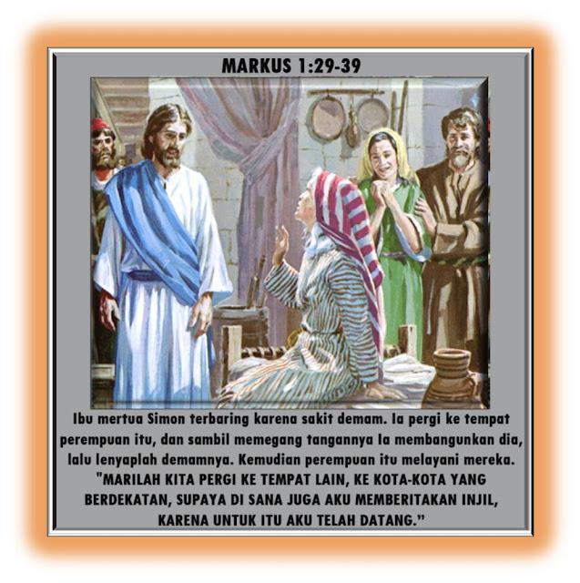 Markus 1:29-39
