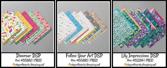 level 1 stampin' up! saleabration designer series paper