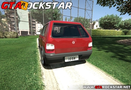 Fiat Uno Way 2010 com SOM para GTA V
