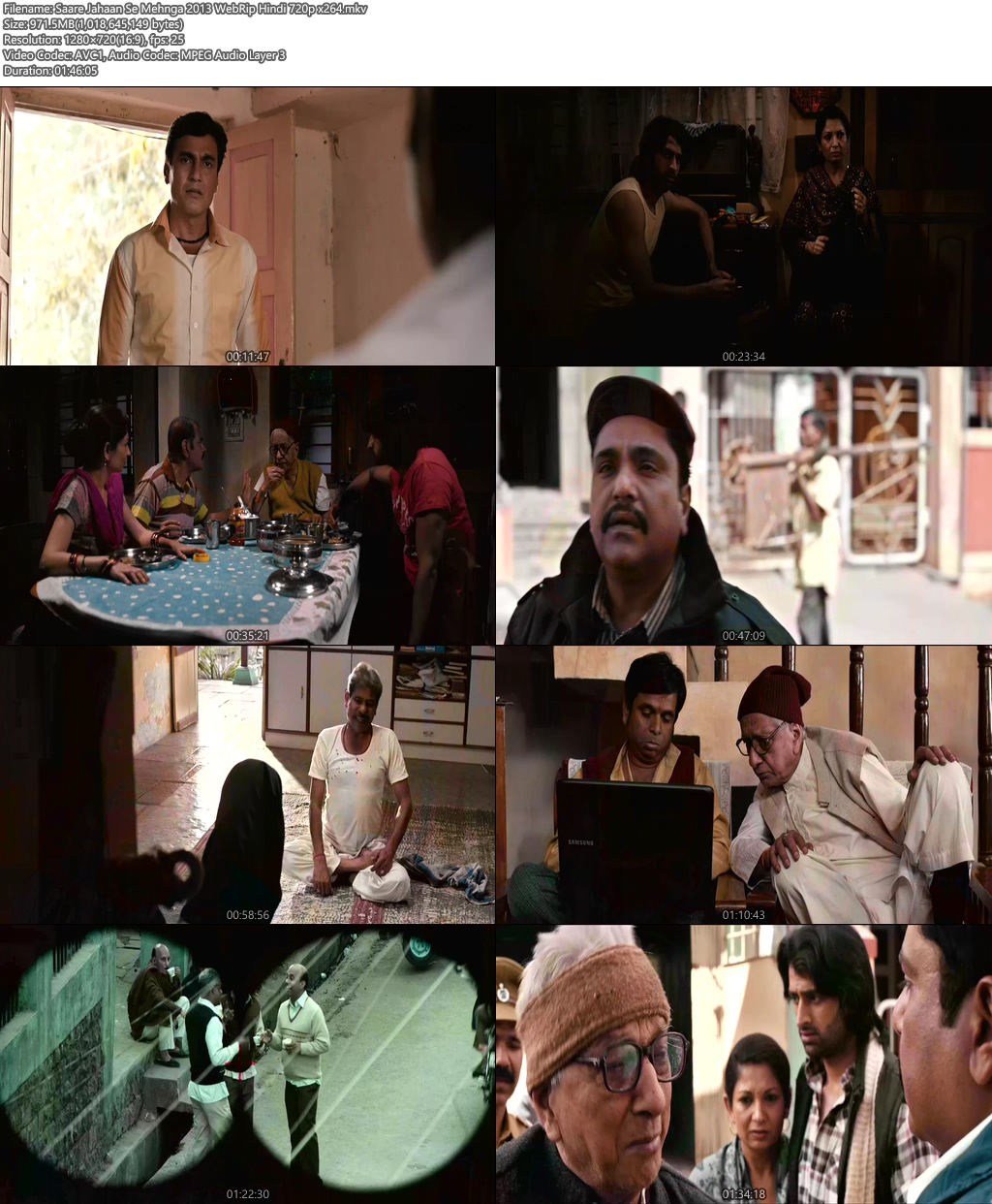 Saare Jahaan Se Mehnga 2013 WebRip Hindi 720p x264 | 480p 300MB | 100MB HEVC Screenshot