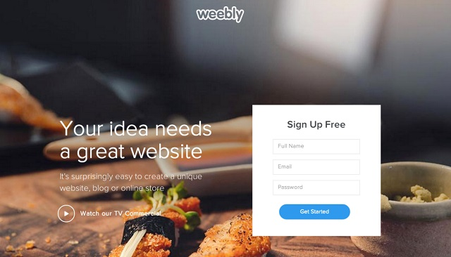 WEEBLY website builder with free starter plan