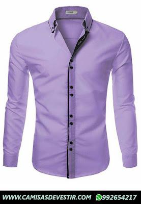 Camisa Azul Slim Fit San isidro