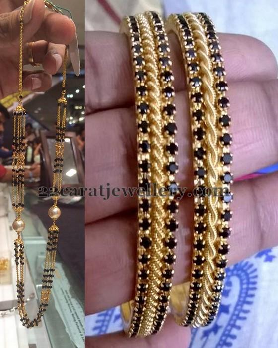 8 Grams Black Beads Set Jewellery Designs